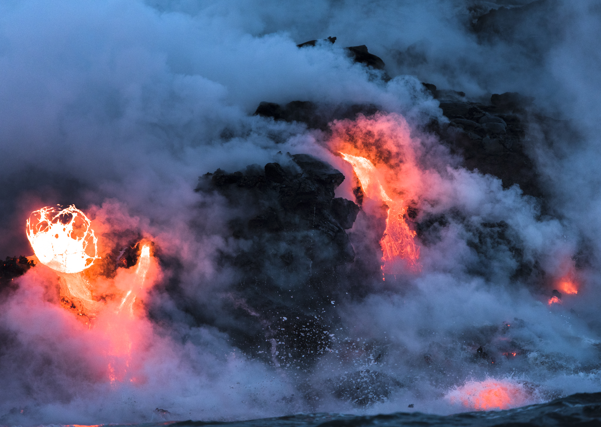 Lava Ocean Entry By Boat Copyright Denesa Chan-3560-3