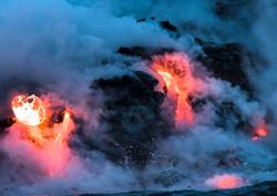 Lava Ocean Entry By Boat Copyright Denesa Chan-3560-3