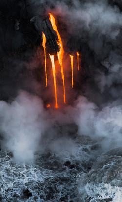 Lava meets the ocean Hawaii Copyright Denesa Chan-32 copy