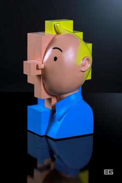 Tintin Color Pixel 3d