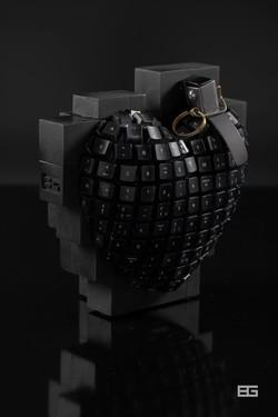 Bomb Azerty Hart Pixel 3d