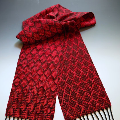 """Feathers"" Scarf in Red and Black"