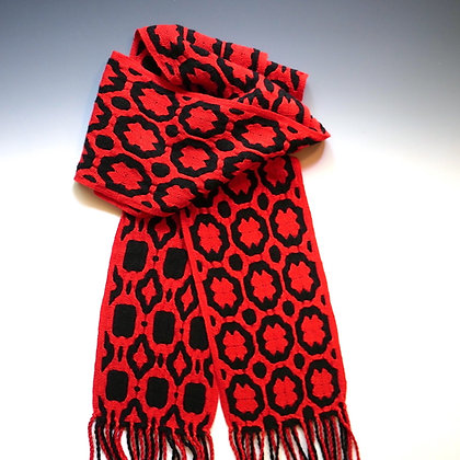 """""""Rings"""" Scarf in Red and Black"""