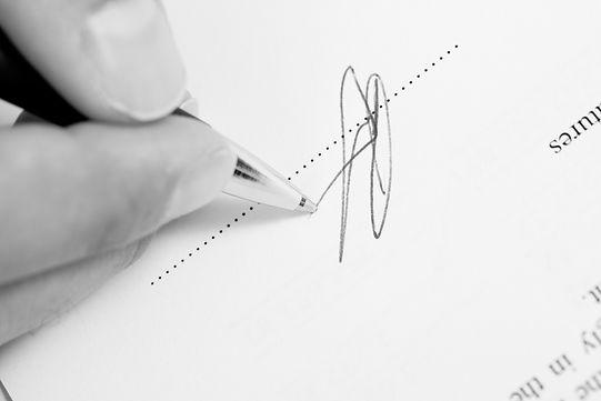 Foto Assinatura documento - signature photo