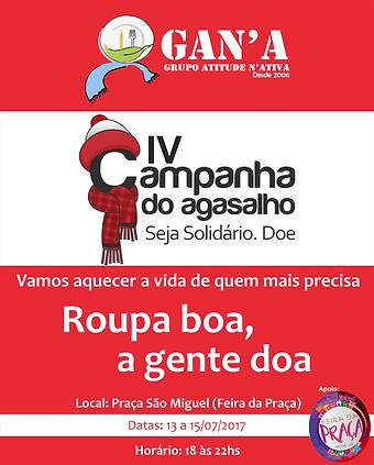 Banner Campanha do agasalho