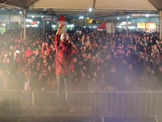 Cris Fagundes esquenta a 20º Festa Nacional do Pinhão de São Francisco de Paula.