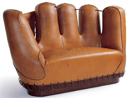Throwback 1940's Baseball Glove Sofa