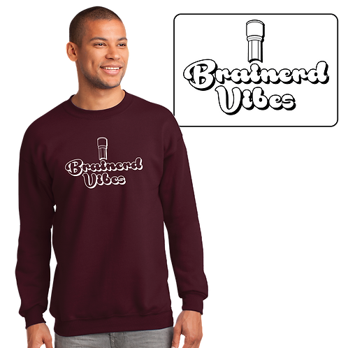 """Brainerd Vibes"" Port & Company® Essential Fleece Crewneck Sweatshirt"