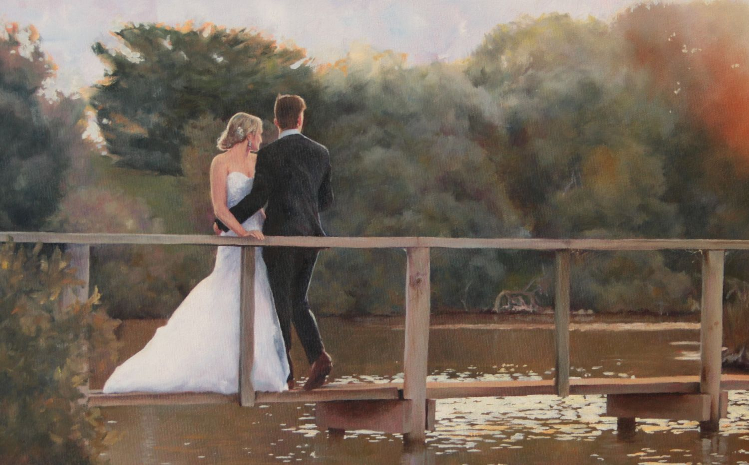 """Just Married"" oil"