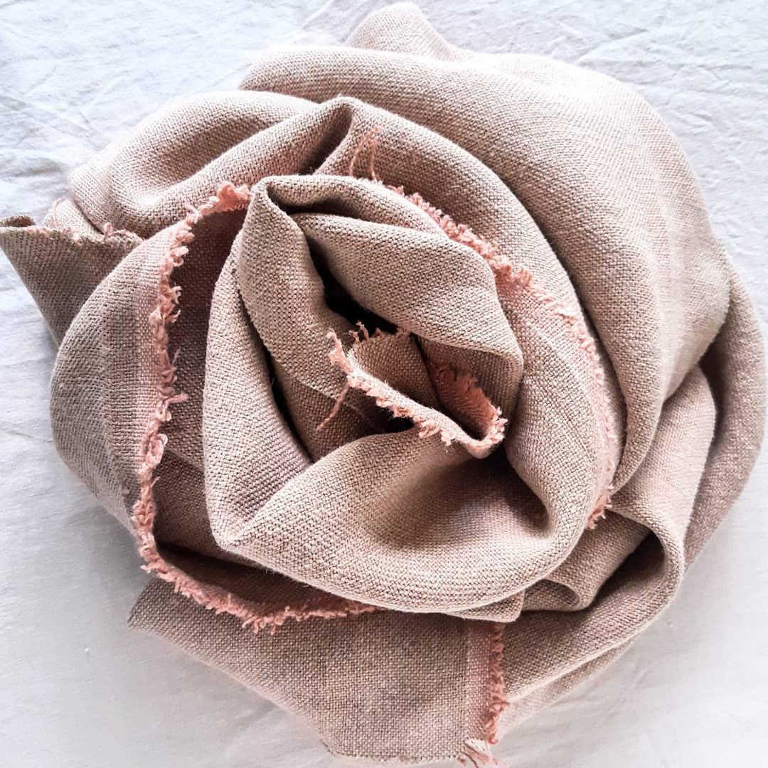 Beautiful clay pink linen