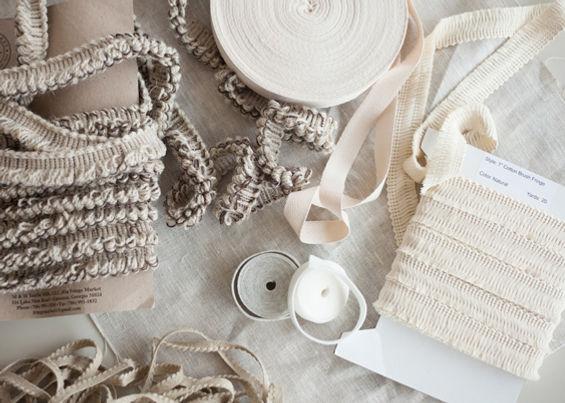 Unique trims. Wool linen cotton felt. littlecrow desgn