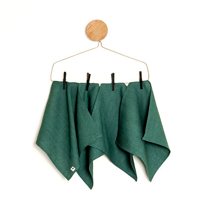 Napkin | GREEN Linen  Set x 4