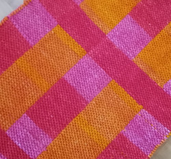 mop cotton rug, hand dyed