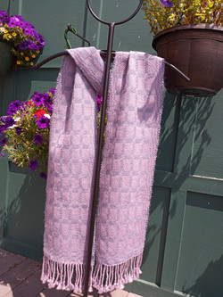 Wool silk and mohair scarf