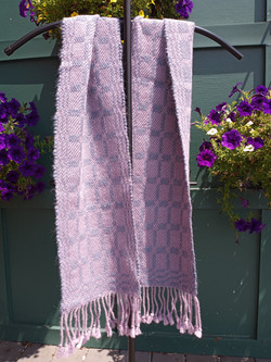 Wool, silk, and mohair scarf