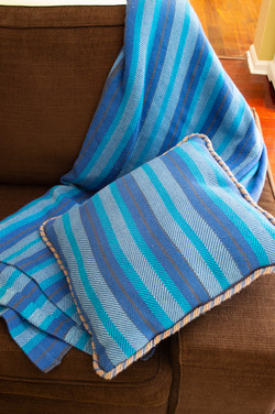 Twill blanket and pillow