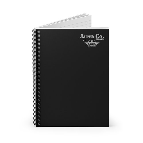 Spiral Notebook - Ruled Line | Alpha Co. Apparel (Subdued)