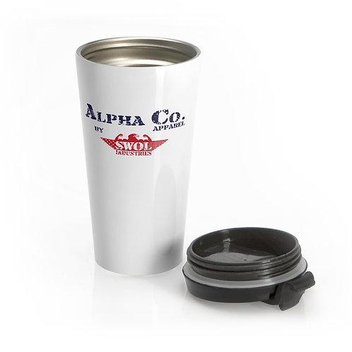 Stainless Steel Travel Mug | Alpha Co. Apparel (RWB)
