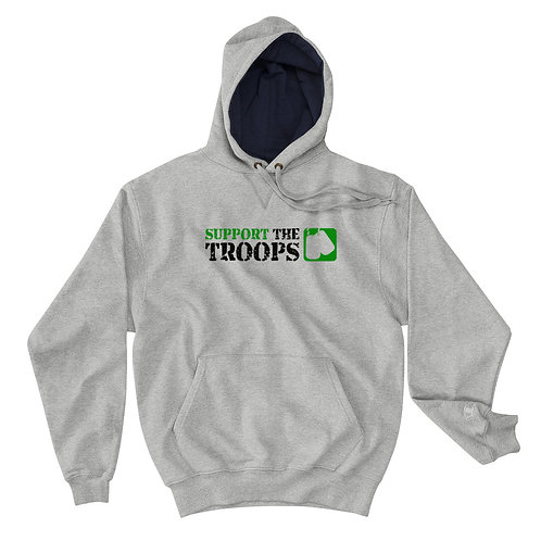 "Champion Hoodie | Badges of Honor ""Support The Troops"""