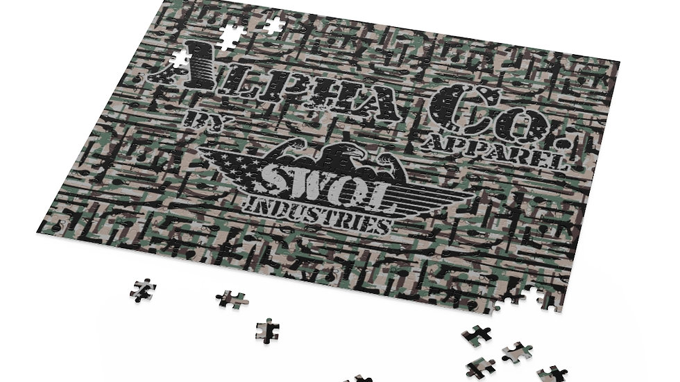 Puzzle (120, 252, 500-Piece)   Alpha Co. Apparel   Range Day Camo