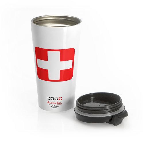 Stainless Steel Travel Mug   Badges of Honor (White, Paramedic)