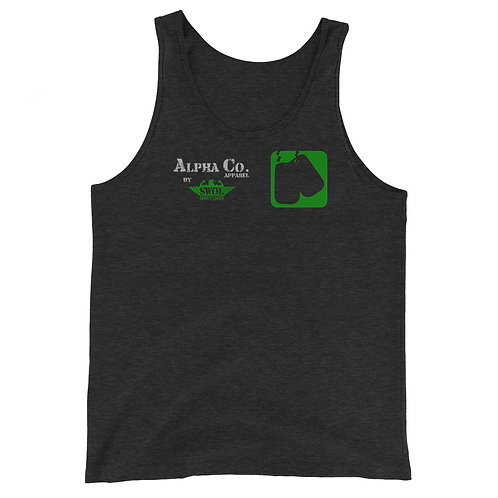 Classic Tank | Badges of Honor (Military, Charcoal & Green)