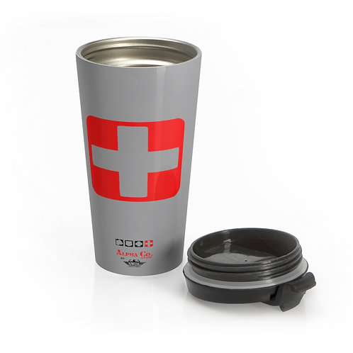 Stainless Steel Travel Mug | Badges of Honor (Grey, Paramedic)