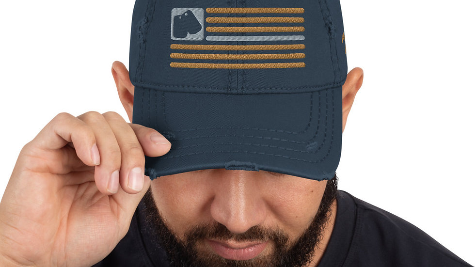 Distressed Hat   BOH Flag (Military-Navy)