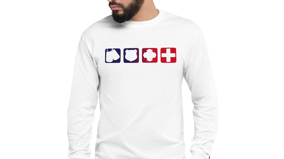 Champion Unisex Long Sleeve Shirt | Badges of Honor (RWB)
