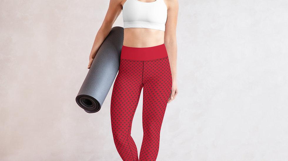 Yoga Leggings | Stars (Red)