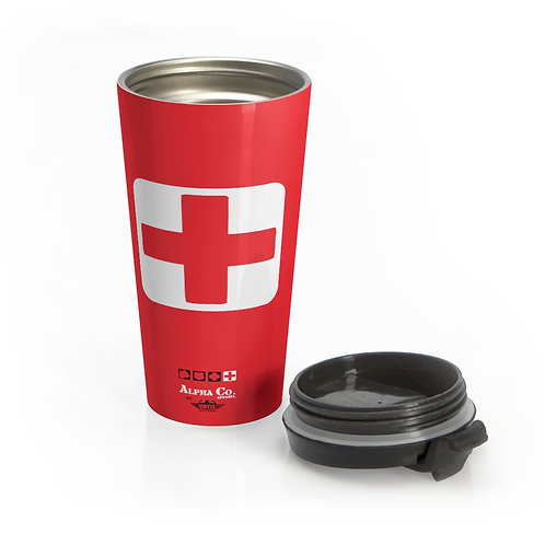 Stainless Steel Travel Mug | Badges of Honor (Red, Paramedic)