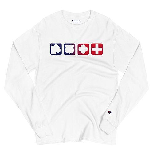Champion Long Sleeve Shirt | Badges of Honor (RWB)