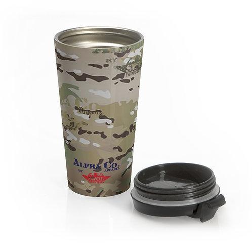 Stainless Steel Travel Mug | Alpha Co. Apparel (MultiCam)