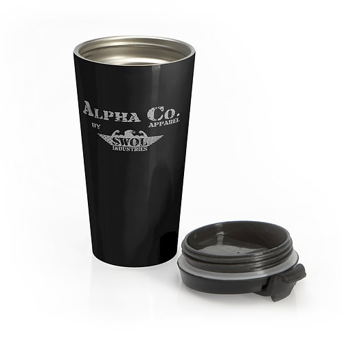 Stainless Steel Travel Mug | Alpha Co. Apparel (Subdued)
