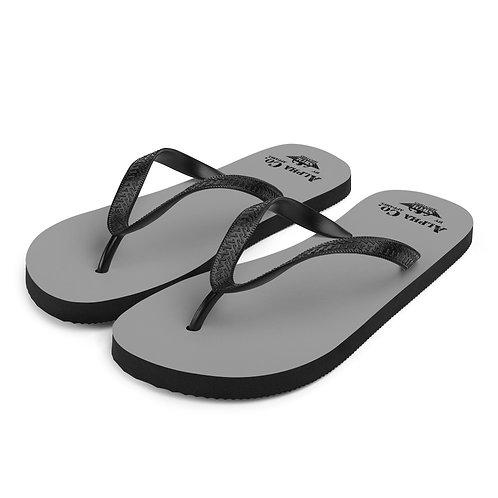 Flip-Flops   Alpha Co. Apparel (Grey, Subdued)