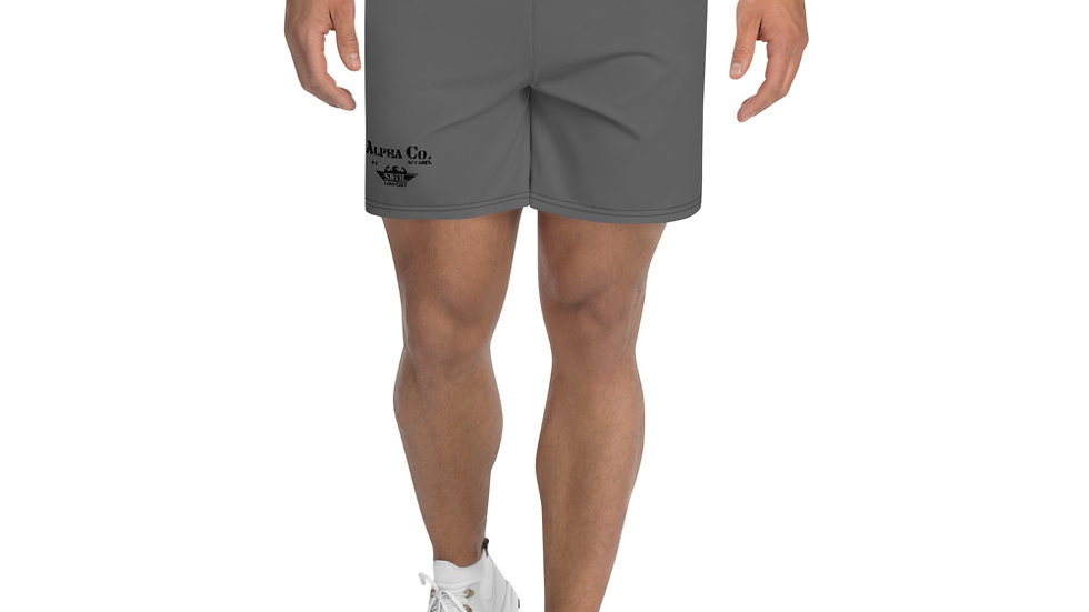 Men's Athletic/Swim Shorts | Alpha Co. Apparel | Subdued Grey