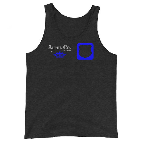 Classic Tank | Badges of Honor (Charcoal & Blue)