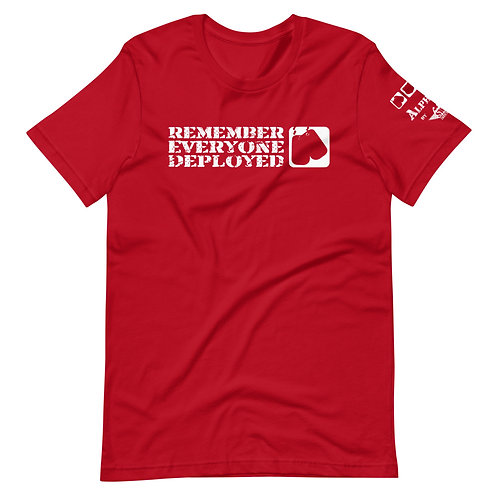 "T-Shirt   Badges of Honor ""Remember Everyone Deployed"""