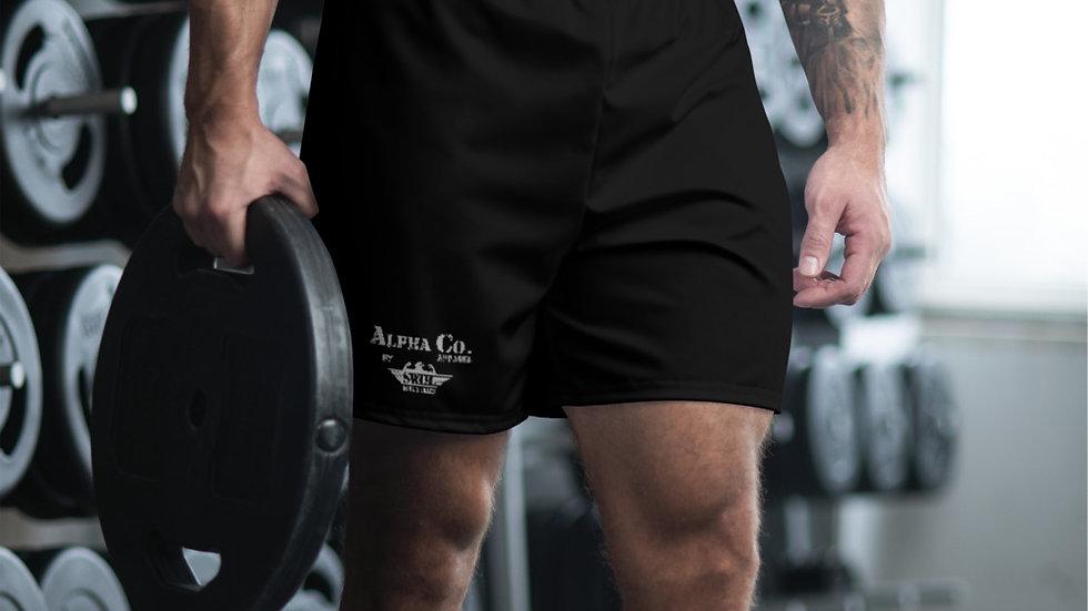Men's Athletic/Swim Shorts | Alpha Co. Apparel | Subdued Black