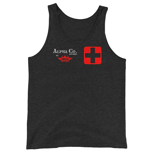 Classic Tank | Badges of Honor (Paramedic, Charcoal & Red)