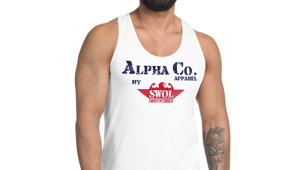 Men's Classic Tank   Alpha Co. Apparel (RWB)
