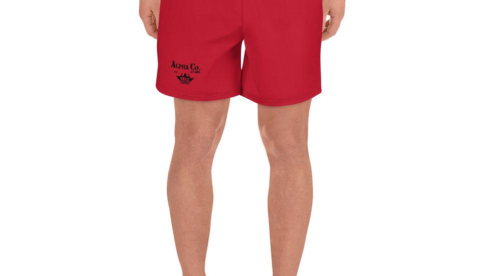 Men's Athletic/Swim Shorts   Alpha Co. Apparel   Red