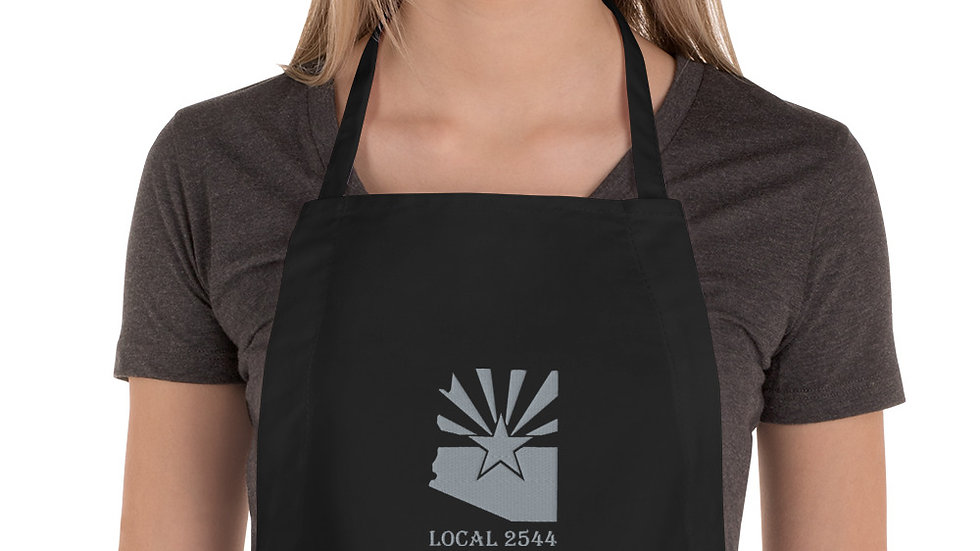 LOCAL 2544   Embroidered Apron