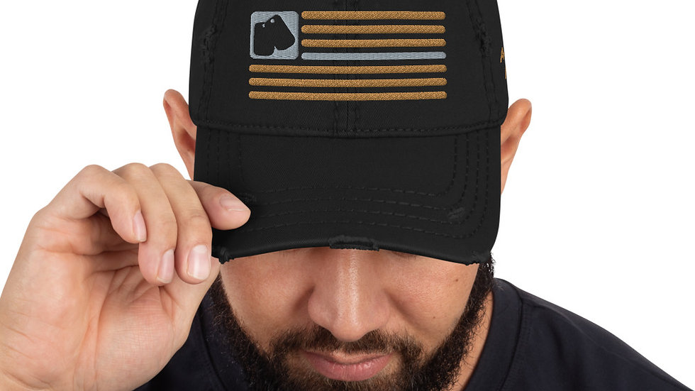 Distressed Hat | BOH Flag (Military-Army)