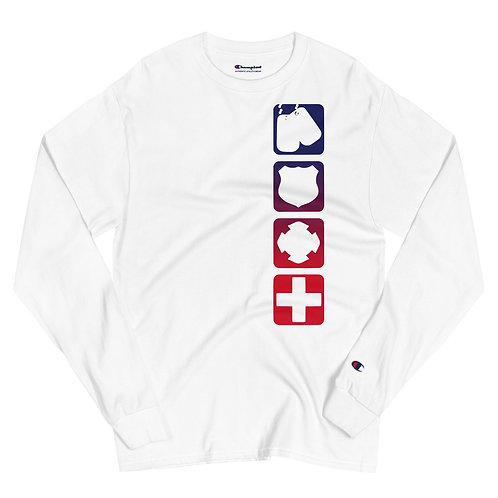 Champion Long Sleeve Shirt | Badges of Honor (RWB)