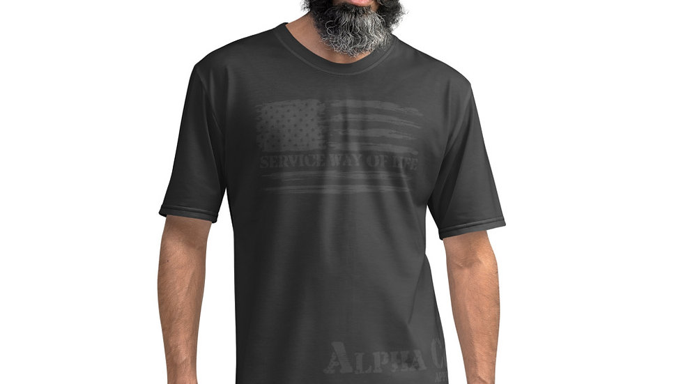 Men's Athletic Tee | Service Way of Life Flag