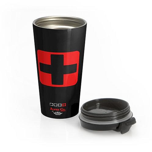 Stainless Steel Travel Mug | Badges of Honor (Black, Paramedic)