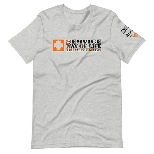 """T-Shirt   Badges of Honor - Firefighter """"Service Way of Life"""""""