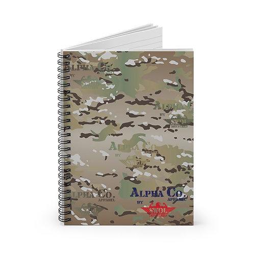 Spiral Notebook - Ruled Line | Alpha Co. Apparel (MultiCam)