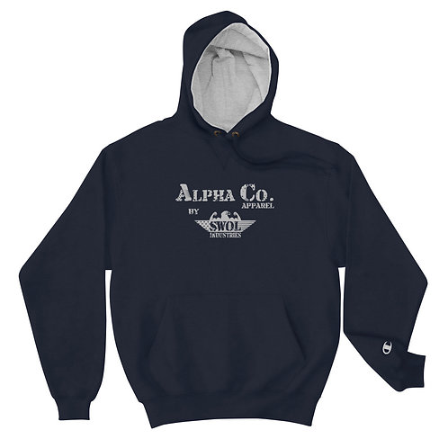 Champion Hoodie | Alpha Co. Apparel (Subdued)
